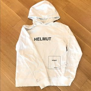 Helmut Lang All White Hoodie Size Small